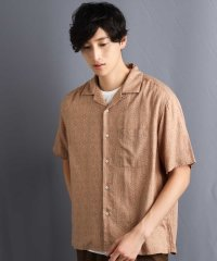 アロハガラプリントオープンカラーシャツ