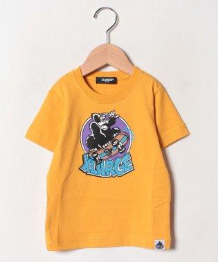スケボーゴリラプリントTシャツ