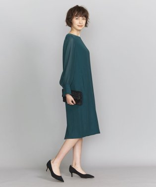 BY DRESS ダブルクロス×ジョーゼットスリーブドレス