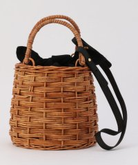 【MARCHER/マルシェ 】ショルダー&ファー巾着付かごバッグ