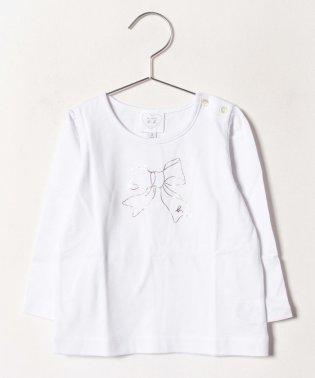 SCJ6 L TS ベビー リボンプリントTシャツ