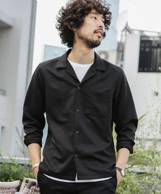 微起毛オープンカラーシャツ 長袖