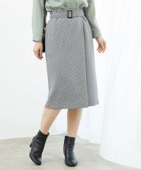 プレミアムフィールチェックラップ風スカート