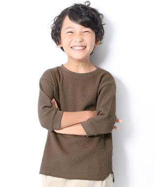 ワッフル7分袖Tシャツ