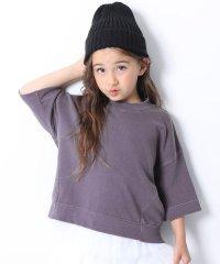 ピグメント加工コクーン7分袖Tシャツ