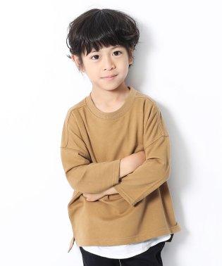 ミニ裏毛7分袖Tシャツ