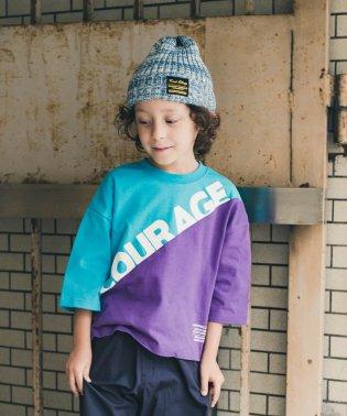 カラーブロック8分袖Tシャツ(90~140cm)