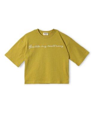 ロゴ刺繍7分袖Tシャツ(90~140cm)