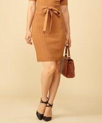 【セットアップ対応商品】タックリブニットタイトスカート