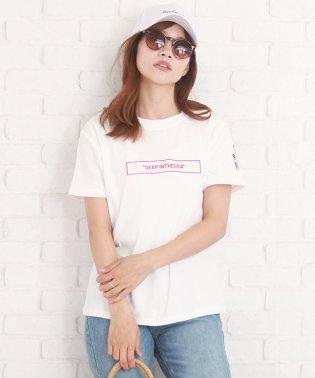 ロゴ付き半袖Tシャツ レディース シンプル 春 夏 半袖 可愛い 韓国 【S/S】【vl-5395】