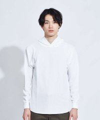 【展開店舗限定】ワッフルラウンド フードロングTシャツ
