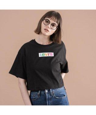 グラフィックオーバーサイズTシャツ RAINBOW BOX TAB METEORITE