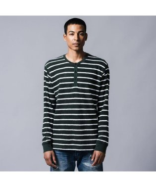 ヘンリーシャツ BLACK SPUR STRIPE MULTI