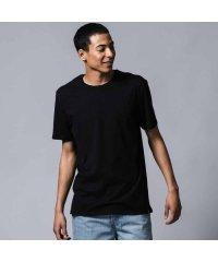 スリム2パックTシャツ BLACK +