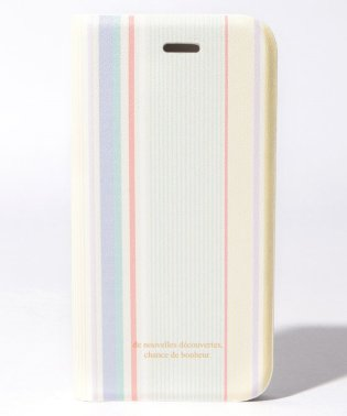 2WAYストライプ柄ブック型iPhoneX/Xsケース