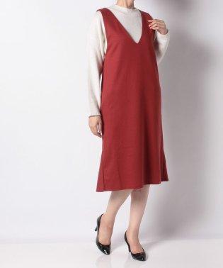 裾フリルジャンパースカート