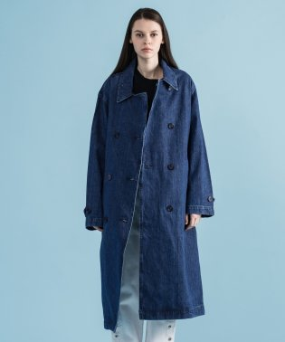 DENIM TRENCH COAT MED AUTHENTIC STONEWAS