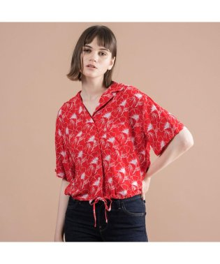 PALOMA シャツ FLIPPED FLORAL BRILLIANT RED
