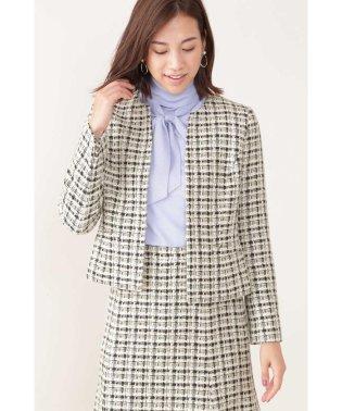 ◆キーネックツィードジャケット