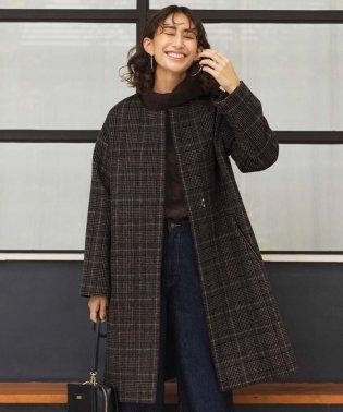 カシミヤブレンドノーカラー ロングコート