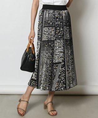 GRANDTABLE(グランターブル) レオパードプリントプリーツスカート