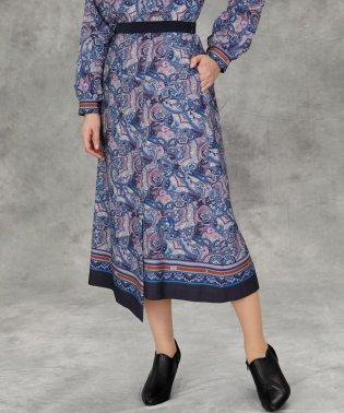 《Maglie par ef-de》ペイズリープリントスカート《Viscotecs》
