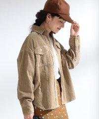 Ray BEAMS / コーデュロイ ビッグ シャツ