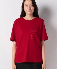 コットンポケット付きブランドロゴTシャツ・カットソー