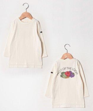 【FRUIT OF THE LOOMコラボ】 無地バックプリントTシャツ