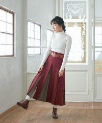 【ふりふWEB限定】配色ボックスプリーツスカート