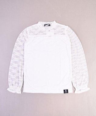 【ニコプチ掲載】ストレッチレースショートネックTシャツ
