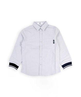 シャンブレー袖リブラインシャツ(100cm)