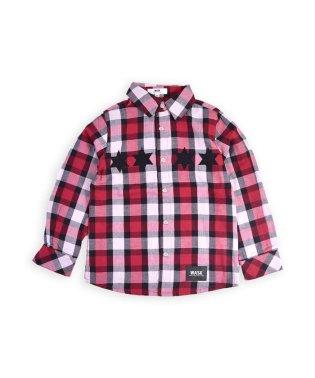 星パッチチェックシャツ(110cm~130cm)