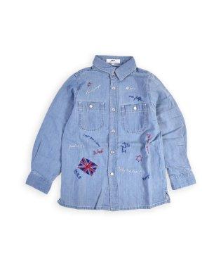 手差し風刺繍デニムシャツ(110cm~130cm)