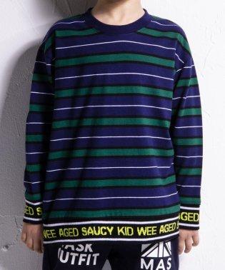 ロゴリブボーダーTシャツ(140cm~160cm)