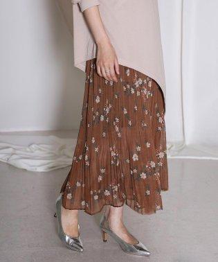 ◆ふんわり軽やか◆花柄プリーツスカート