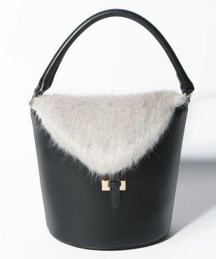 【tov】FUR FLAP BUCKET BAG