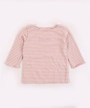 ボーダ―7分袖メロウTシャツ