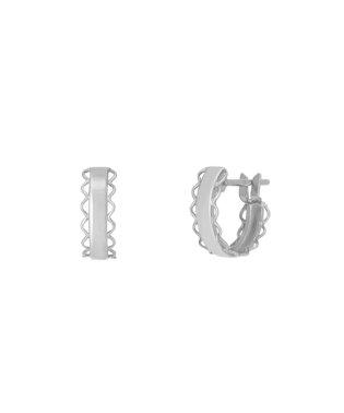 K14/K10フリルフープピアス( WG)