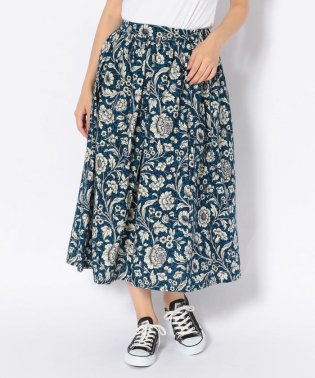 BOHEMIANS/ボヘミアンズ 別注 BOOK FLOWER FLANNEL GATHER SKIRT/ギャザースカート