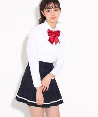 【卒服】リボンタイ付 無地プリーツスカート