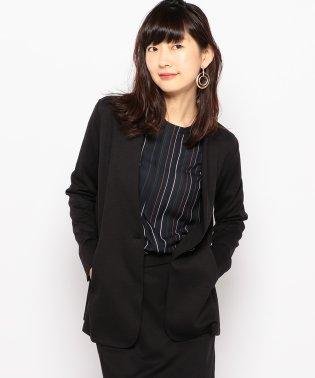 【セットアップ対応商品】ツイルきざみ衿ジャケット