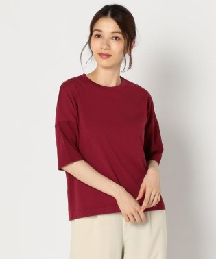 袖針抜きクルーネックニットTシャツ