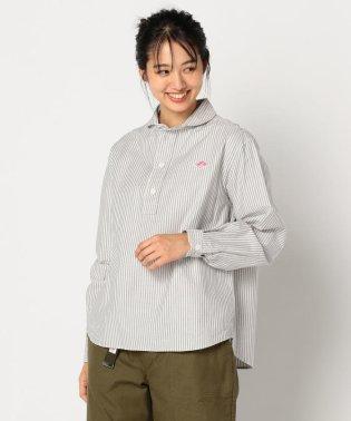 【DANTON/ダントン】丸えりOXFORDストライプシャツ #JD-3564 TRD