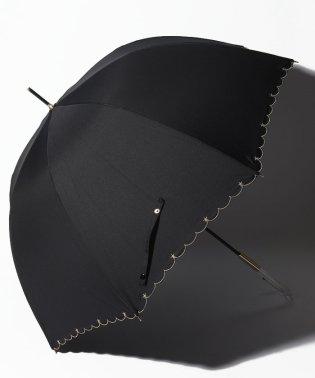 【晴雨兼用傘】プチスターポイント深張長傘 (UVカット&軽量)