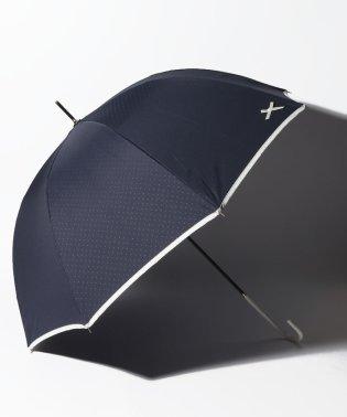 【晴雨兼用傘】プチリボンポイント深張長傘 (UVカット&軽量)