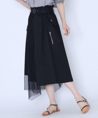 [MIREPOIX]チュールドッキング トレンチデザインスカート