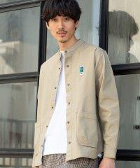【GO OUT10月号掲載】MEI(メイ)別注キャンバススナップボタンバンドカラーシャツ(その他⇒WEB限定カラー)