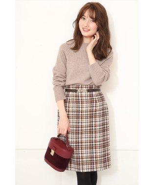 【andGIRL12月号掲載】ラメチェックタイトスカート