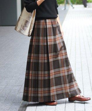 【O'NEIL OF DUBLIN/オニールオブダブリン】ベルト付きロングスカート◆